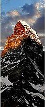 Turaufkleber Türtapete 3D Snow Peak Mountain