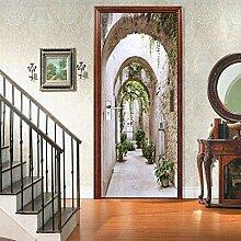 Turaufkleber Türtapete 3D Tapete Korridor Tür