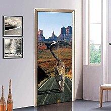 Turaufkleber Türtapete 3D Tapete Leopard Tür