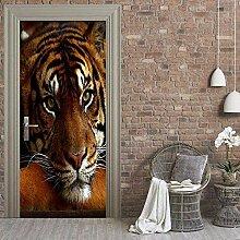 Turaufkleber Türtapete 3D Tapete Tiger Tür
