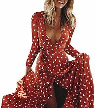 Turkey Damen Kleid Rot Wein L