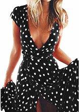 Turkey Damen Kleid Schwarz Schwarz XL