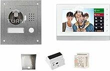 "TURM IP 2 Draht Video Türsprechanlage, 1,3 Megapixel Kamera, 1x 7"" Innenstation, Einfamilienhaus Se"