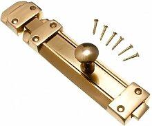 Turm Riegelschiebers Tür zu verriegeln 200mm Messing poliert mit Schrauben (Packung mit 3)