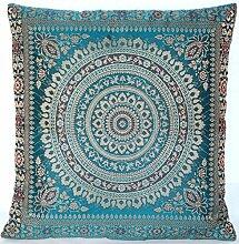 Turquoise / Türkis Indische Seide Deko Kissenbezüge 40 cm x 40 cm, Extravaganten Deko Kissenbezüge für Wohnzimmer und Schlafzimmer Dekoration, Kissenhülle aus Indien. Angebot gültig solange der Vorrat reich