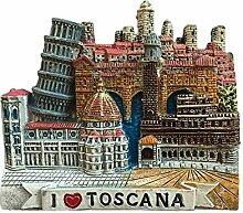 Tuscana Italien 3D Kühlschrankmagnet Reise