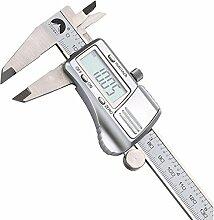 Tutoy 0-150mm / 0.01 Digital Elektronische Vernier Bremssättel Micrometer Messgerät Messwerkzeug Edelstahl