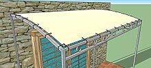 TUTTOPERGOLE Ersatzdach für Anbau Pergoladach