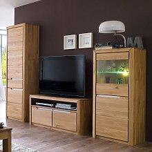 TV Anbauwand aus Wildeiche Massivholz modern