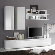 TV Anbauwand in Hochglanz Weiß 210 cm (4-teilig)