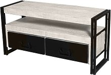 TV Board aus Metall Holz massiv