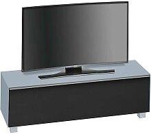 TV Board in Hellblau Glas Schwarz 140 cm
