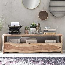 TV Board mit Baumkante Akazie Massivholz