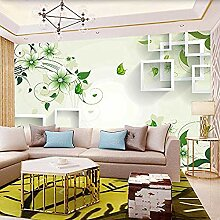 TV Hintergrund Wall_TV Wallpaper Green Leaf