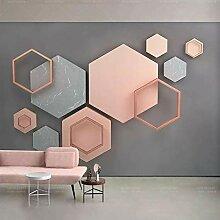 Tv hintergrund wallpaper_geometric 3d stereo tv