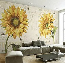 TV hintergrund wandbild retro sonnenblume