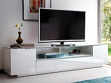 "TV Lowboard Board Rack Hifi Unterschrank Fernsehschrank Schrank weiß""Canberra I"