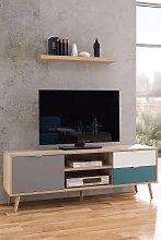 TV Lowboard Dekor Sonoma Eiche / Tricolor