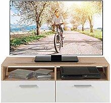 TV-Lowboard Fernsehschrank Fernsehtisch | Eiche