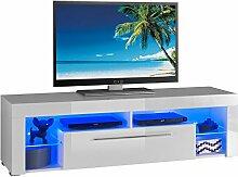 TV-Lowboard Fernsehtisch GERLINDE, Weiß