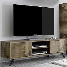 TV Lowboard im Industriedesign Altholz Optik und