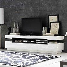 TV Lowboard in Hochglanz Weiß 200 cm breit