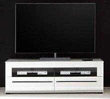 TV-Lowboard in Hochglanz weiß Hifi-Rack