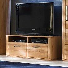 TV-Lowboard in Kernbuchefarben Schubladen