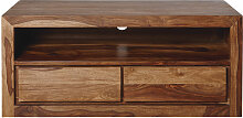 TV-Lowboard mit 2 Schubladen aus massivem