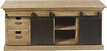 TV-Lowboard mit 2 Türen und 4 Schubladen, aus