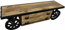 TV-Lowboard Möbel mit Rädern Sideboard Schrank