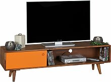 TV Lowboard Sheesham Massivholz mit 1 Tür 140 x