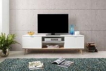 TV Lowboard weiß / Dekor Sonoma Eiche