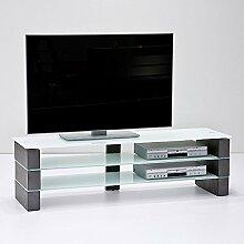 TV Media Element Beton Optik Lowboard HiFi Möbel TV- Schrank Olivia 160