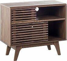 TV Möbel Braun dunkler Holzfarbton mit Viel