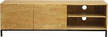 TV-Möbel industrieller Stil Mangoholz und Metall