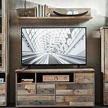 TV-Möbel Set Lowboard mit Wandregal BRANSON-36 in