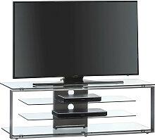 TV-RACK , Anthrazit , Metall, Glas , rechteckig ,