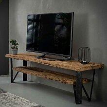 TV Rack aus Recyclingholz und Metall 160 cm breit