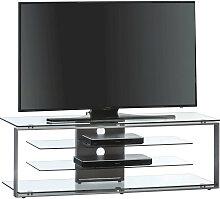 TV-RACK Glas, Metall Anthrazit