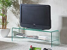 TV Regal Glasregal Fernsehtisch Glastisch 110 cm