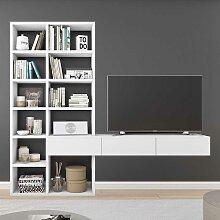 TV Regal in Weiß lackiert modern