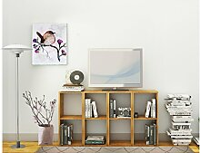 TV-Regal Regal COMFORT mit offenen Fächer, Eiche massiv (geölt), 144 x 30 x 70,5 cm
