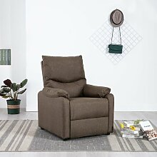 TV-Relaxsessel Braun Stoff 14223 - Topdeal