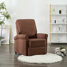 TV-Relaxsessel Braun Stoff - Youthup
