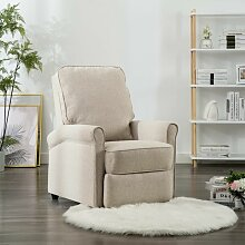 TV-Relaxsessel Cremeweiß Stoff 14200 - Topdeal