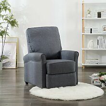 TV-Relaxsessel Dunkelgrau Stoff VD14202 - Hommoo