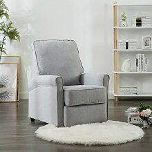 TV-Relaxsessel Hellgrau Stoff 14201 - Topdeal