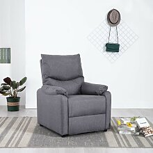 TV-Relaxsessel Hellgrau Stoff 14221 - Topdeal