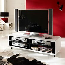 TV Rollwagen in Weiß 120 cm breit